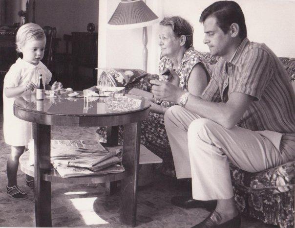 Mentana, io papà e nonnetta