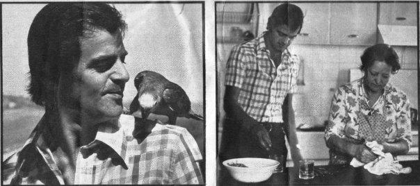 Papà con Paco e papà e nonnetta in cucina