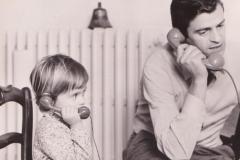 Io e papà al telefono