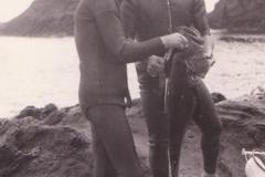 Papà e Ninni con una succulenta cernia